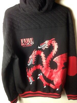 Game Of Thrones Fire And Blood Hoodie Jacket Mens Xxl 2Xl New With Tags👌