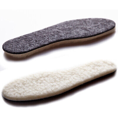 Sheepskin Insoles Soft Warm Winter Thick Inner Soles Sheep Wool Shoes Boot Pad