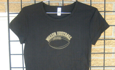 Ladies MILLER LITE Beer T Shirt Top womens  L Football nfl college gameday Bar