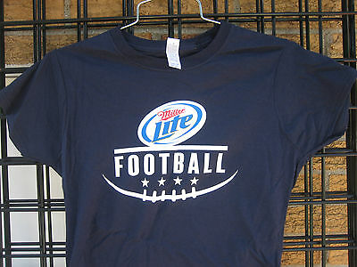 (M) Ladies Miller Lite Beer T Shirt FOOTBALL Bar Waitress staff NFL Colllege MD