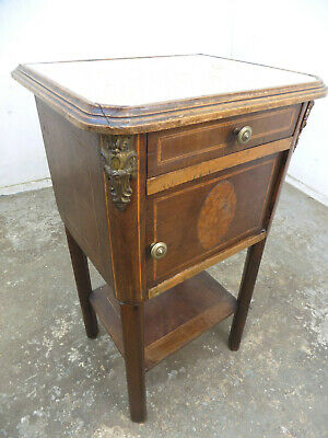 antique,victorian,French,pot cupboard,table,drawer,side,end,cold,cabinet,shelf