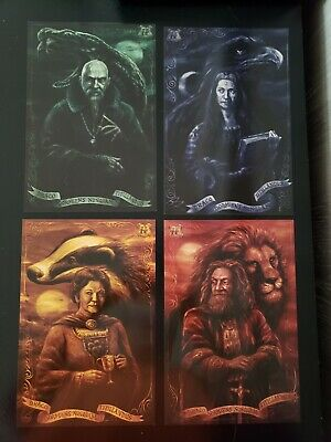 NEW Harry Potter Loot Crate HOUSE PRINTS Posters (4) Hogwarts Founders