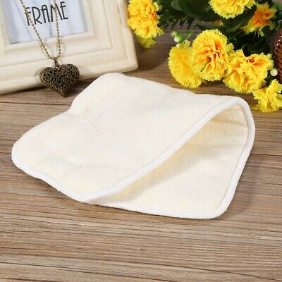 Bamboo Fiber Cloth Adult Diapers Inserts Liners 4 Layers Reusable Washable Nappy