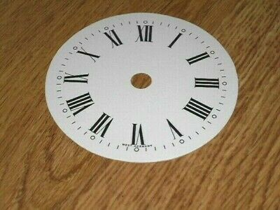 "Round Paper (Card) Clock Dial- 3 1/4"" M/T - with 'WEST GERMANY'  - Parts/Spares"