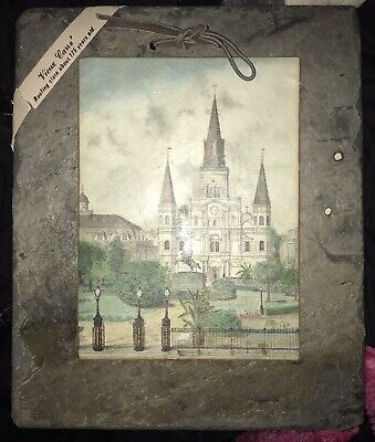 ARCHIE BOYD Art ST. LOUIS CATHEDRAL Vieux Carre New OrleansROOFING SLATE TILE