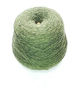 Forest Green 1 lb 13 oz Cone Yarn Knitting Machine Vintage