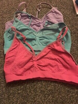 Marks And Spencer Girls Crop Tops 3 Part Set 12-14 Multi