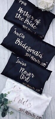 Personalised Wedding Day Bridal Party Robe Dressing Gowns