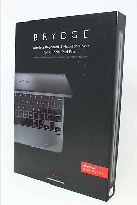 Brydge Pro Wireless Keyboard w/ Magnetic Cover for iPad Pro 11 inch Space Gray