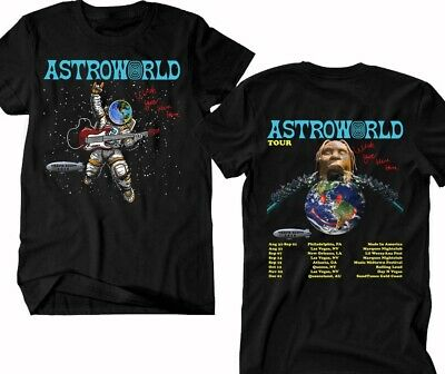 TRAVIS SCOTT T-shirt Astroword Tour 2019, Rap Hip Hop RnB Music Tee !!!