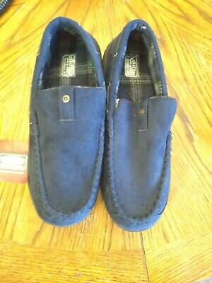 Signature By Levi Strauss Men's Blue Venetian Moccasin Slipper 11-12, NWT