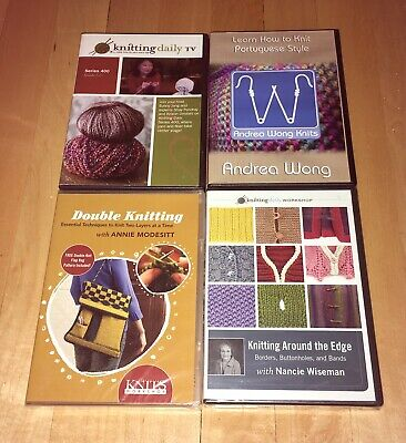 DVD Lot: Knitting Daily Series 400, Around The Edge, Portuguese Style, Etc