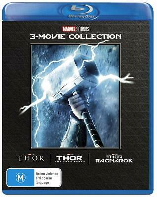 THOR + THE DARK WORLD + RAGNAROK (Region Free) Blu-ray Disney Marvel Trilogy