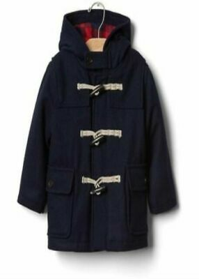 2 T Baby GAP Kids Navy Blue Toggle Hooded Pea Coat Jacket Toddler Boy NWT
