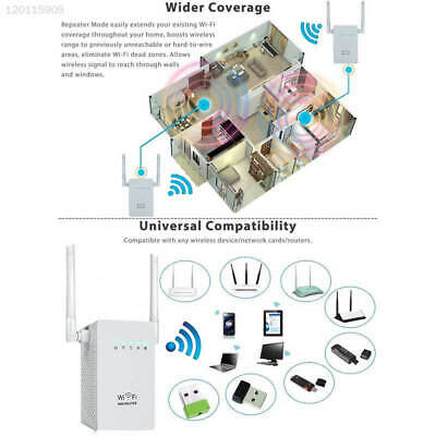 300Mbps Wireless Extender WiFi Repeater Booster Network Router EU Plug White