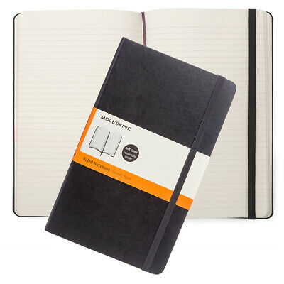 NEW Moleskine Classic Soft Cover Large Ruled Notebook Black