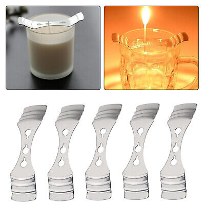5pcs Metal Candle Device Hole Clip Making Supplies  Wicks Holder Centering uk