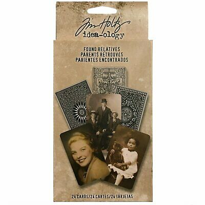 Tim Holtz Idea-Ology - Layers - Found Relatives Portraits - 24 Cards