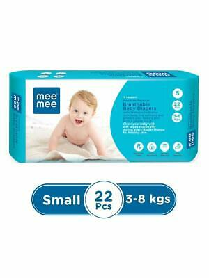 Mee Mee Premium Breathable Disposable DIAPERS Upto 7Kg Small Size Free Ship RG