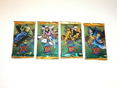 1995 Fleer Ultra X-Men Walmart Sealed 4 Green Card Packs Wolverine! Gold Foil!