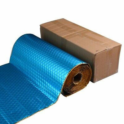 Auto 2mm 7.5M 13kg Aluminum Car Van Sound Deadening Proofing Damping Mat Blue