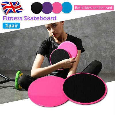 Prettyia 2pcs Exercise Sliders Workout Gliding Disc Glider Stretch Bands