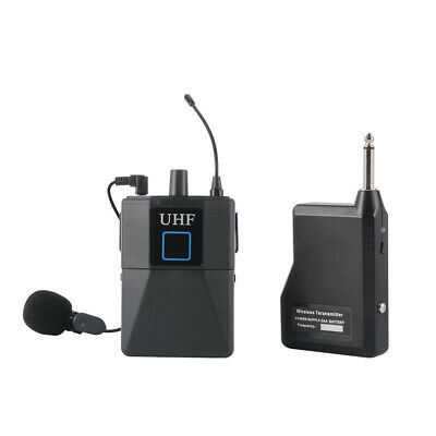 UHF Wireless Lavalier Lapel Microphone System with Transmitter Receiver LF891