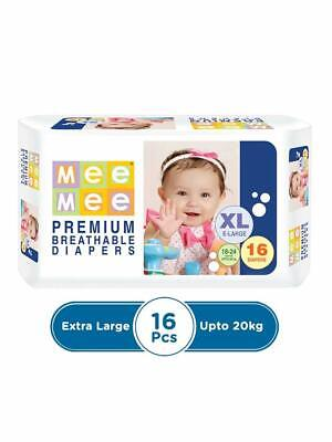 Mee Mee Premium Breathable Disposable DIAPERS Upto 20kg X Large Size FreeShip RG