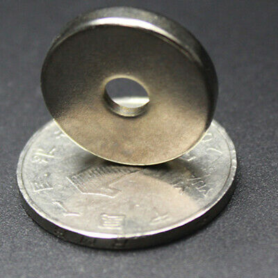 5-50x N50 Strong Round Ring Magnets 20mm x 4mm Hole 5mm Rare Earth Neodymium qwe
