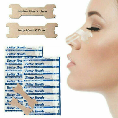 50-100pcs Disposable Better Breath Nasal Strips Large Right Way to Stop Snore FR