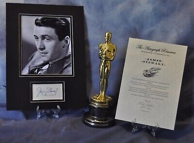 James Stewart Signed autographed vintage Sexy 16 X12 display + COA