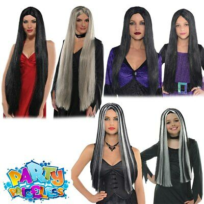 Ladies Girls Kids Witch Wig Halloween Witches Fancy Dress Costume Accessory
