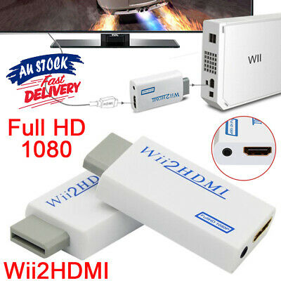 Wii HDMI Adapter Audio to 1080p Video 3.5mm HD Converter Output