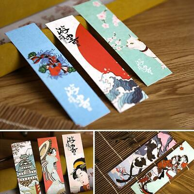30pcs/set Cute Paper Bookmark Vintage Japanese Style Book Marks Reading Su Best