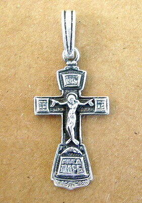 Russian Silver Cross Jesus Christ, Orthodox, Old Sterling Russia Rare
