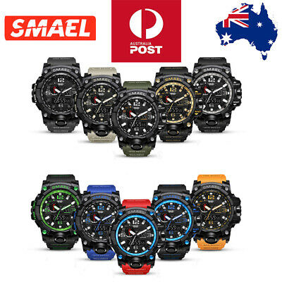 SMAEL Watch Waterproof Sports Military Shock Men's Analog Quartz Digital Watches