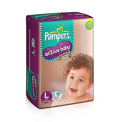 Pampers Active Baby Skin Comfort Disposable Diapers 9 to 14 kg Large Size RG