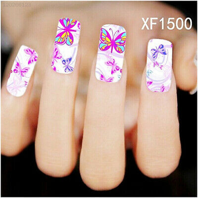 Water Transfer Butterfly Decal Women Stickers Nail Art Acrylic Tips Decoration