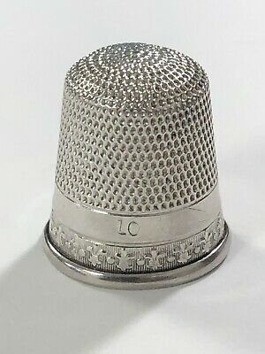 Vintage #10 Sterling Silver Thimble, Marked Sterling