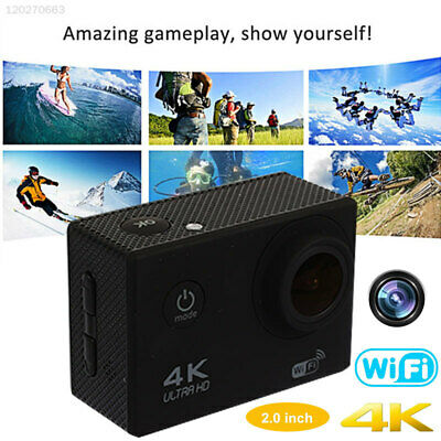 Portable 4K 30FPS Waterproof Camera Sports DV Gopro Wide-Angle Lens DVR Photo