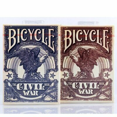 Bicycle Civil War Red Blue Deck Playing Cards Poker Game Magician Collection