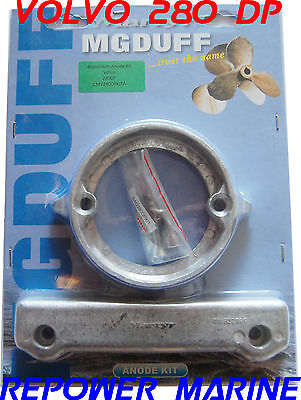 Anode Kit Volvo Penta 280 Dp Sterndrive, MG Duff, OEM Qualité Anodes