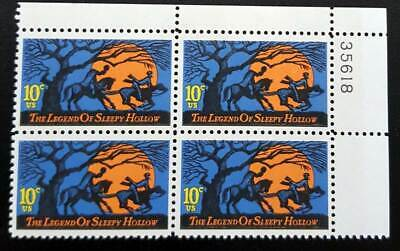 United States Block of 4 MNH Stamps Scott #1548 Sleepy Hollow 10/10/74