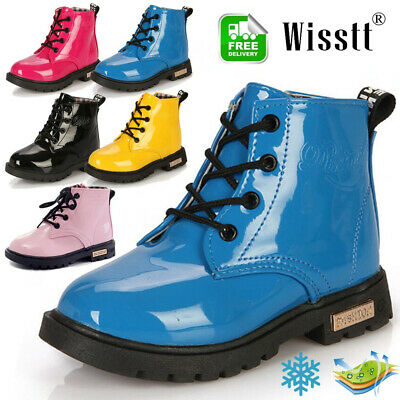 Shoes Toddler Boys Girls Boots Leather Children kids Martin Snow Warm Boots Size