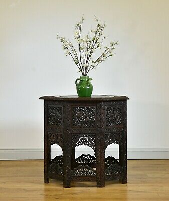 Early 20Th Century Anglo Indian Large Octagonal Folding Occasional Table
