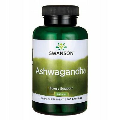Ashwagandha 900 mg - 100 Capsules Stress Relief Adaptogen Super Fast Shipping