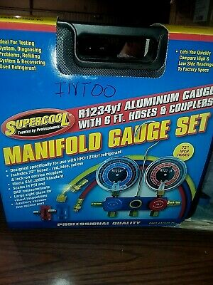 New SUPERCOOL R1234yf Mechanical Manifold Gauge Set,Type Auto, 37520-PC