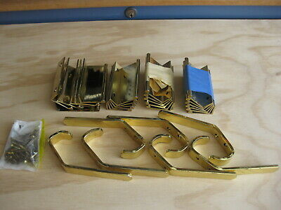 Polished Brass Hooks and Drawer Pulls Lot - Balwin & Other