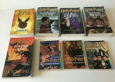 Lot 7 Tomes Harry Potter 1 2 3 4 5 6 7 Collection Complete
