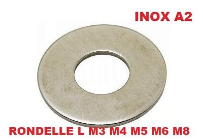 Large L M3 70x Rondelle plate INOX A2